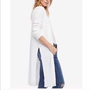 Free People Ribby Rib Duster Cardigan